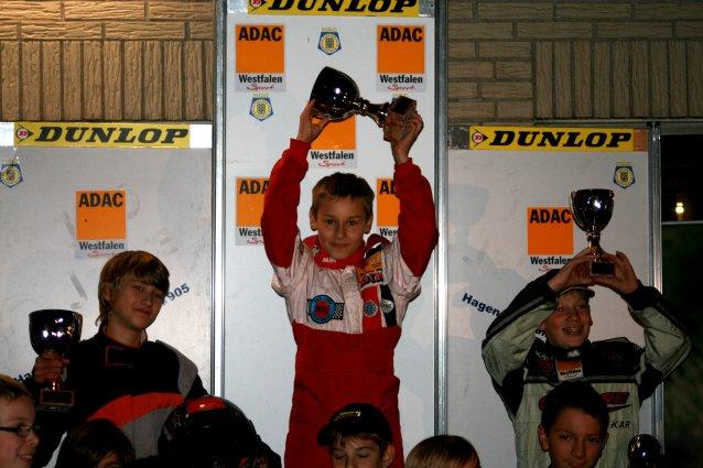 Marcel Preuß auf dem Siegertreppchen